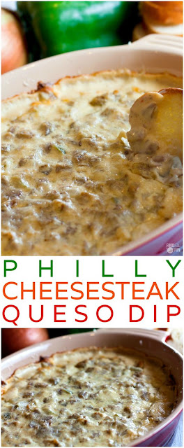 Philly Cheesesteak Queso Dip