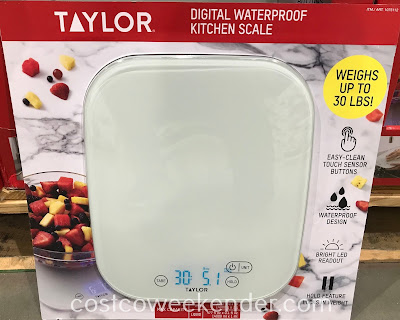 Ensure exact ingredient measurements when following a recipe with the Taylor Digital Waterproof Kitchen Scale