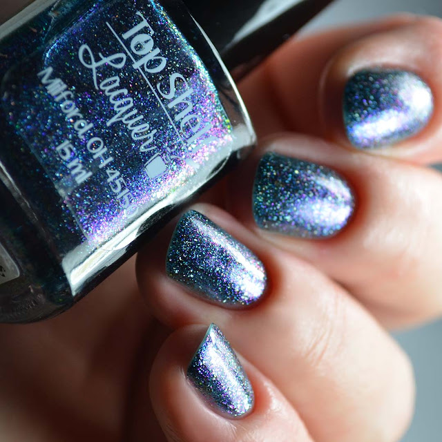 blue multichrome nail polish