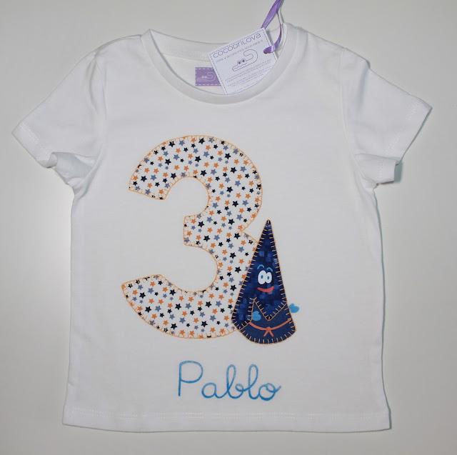 camiseta cumpleaños 3 años nazareno