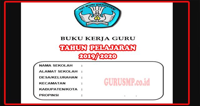 Buku Kerja Guru SMP Kurikulum 2013 Tahun Pelajaran 2019/ 2020