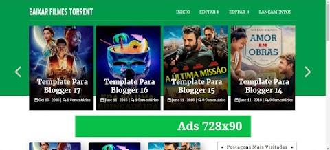 Baixar Filmes Torrents Template Blogger
