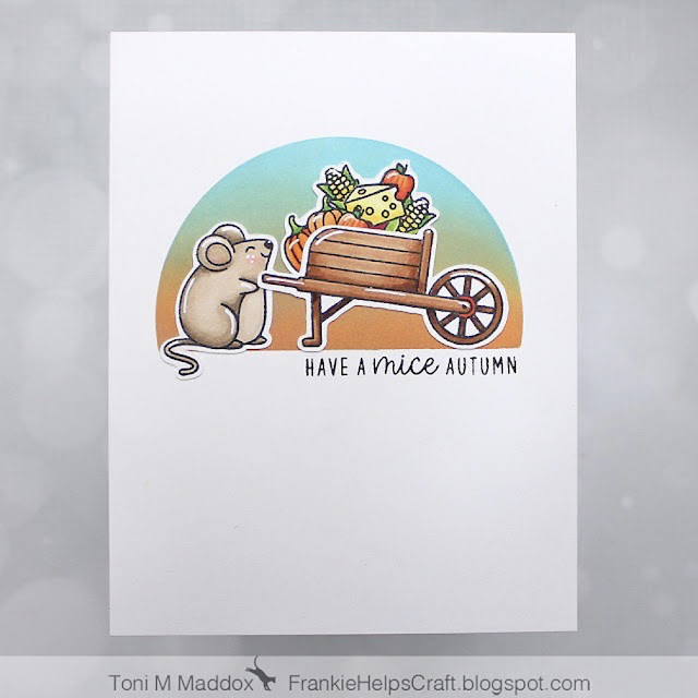 Sunny Studio Stamps: Harvest Mice Customer Card by Toni M Maddox