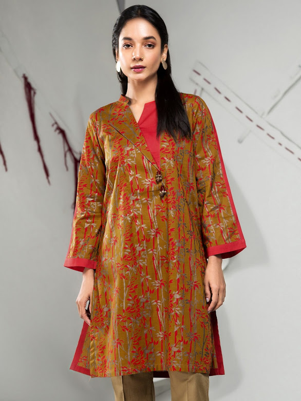 Limelight unstitched lawn shirt yellow printed