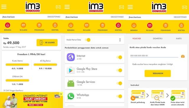 Cek Kuota Internet Indosat Ooredoo via MyIM3