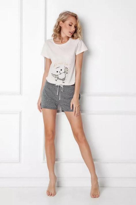 Pijama Owella cu pantaloni scurti si tricou