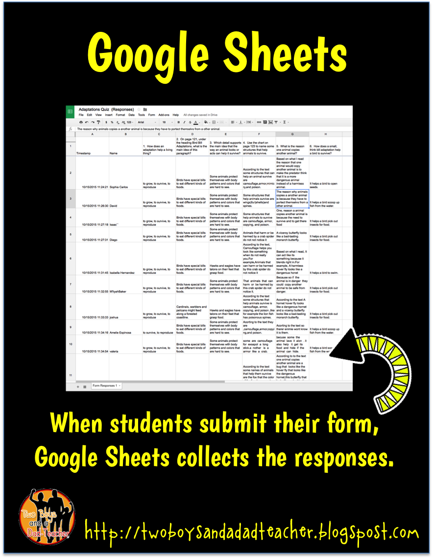 Google Forms in my Classroom