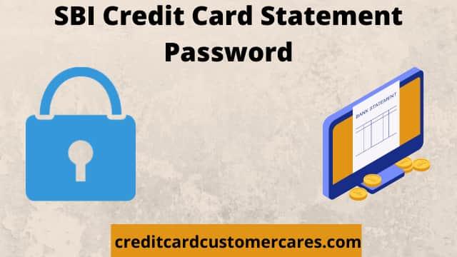 SBI Credit Card Statement Password
