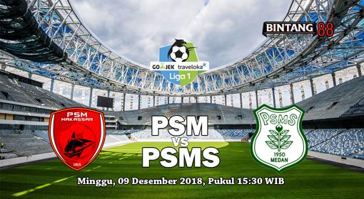 Prediksi PSM Makassar Vs PSMS 9 Desember 2018