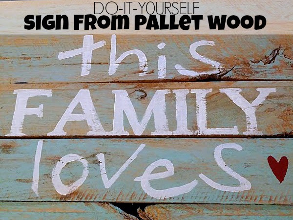 DIY Pallet Sign with Painted Phrase