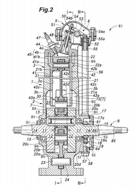 Honda patenta una sistema de inyeccion para motores de dos tiempos (2T)