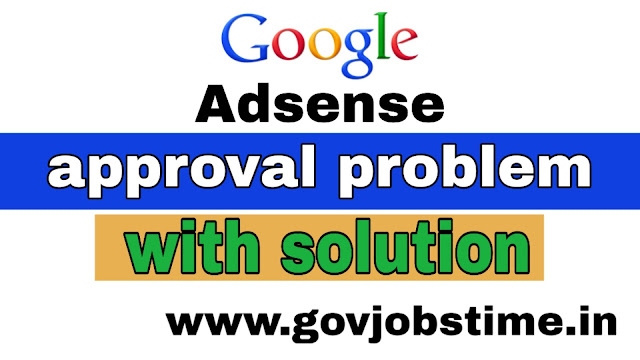 Govjobstime.in , google adsense,adsense approval,adsense,adsense approval trick,adsense account,google adsense approval trick 2019,google adsense approval 2019,how to get google adsense approval fast,google adsense problem,you already have an existing adsense account,how to fix google adsense error problem,adsense problem,google adsense problem solution,top best google adsense problems solution
