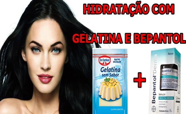 Hidratação com Gelatina e Bepantol