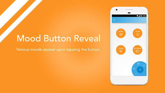 Android app UI and UX : bud mood button