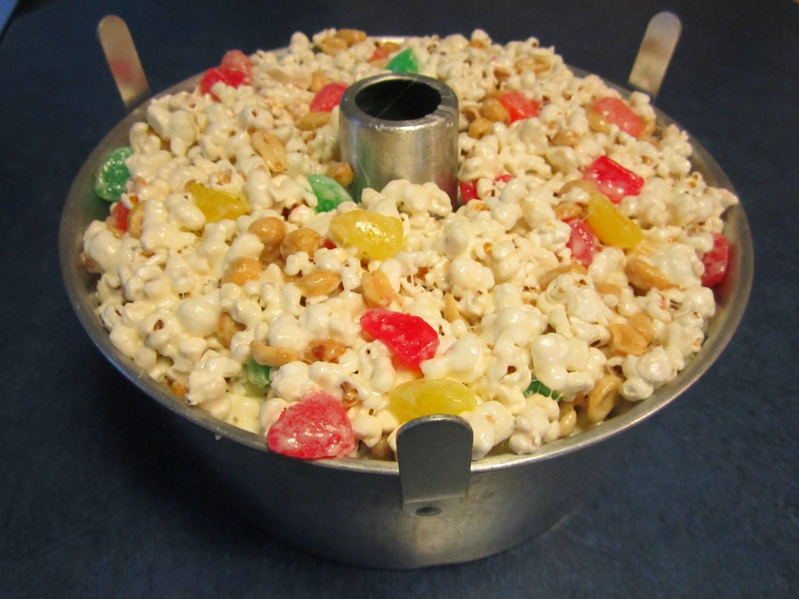 Popcorn gumdrop cake recipe
