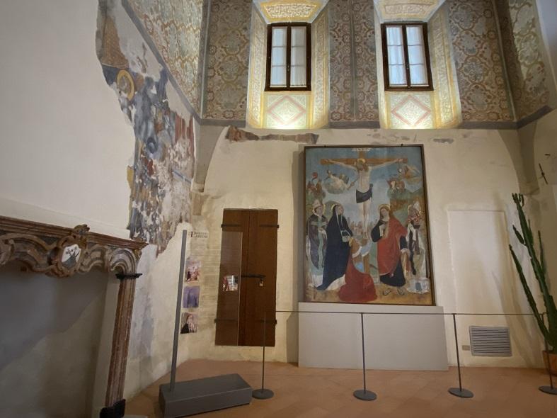 Affreschi all'interno del convento nell'Eremo di Santa Caterina del Sasso