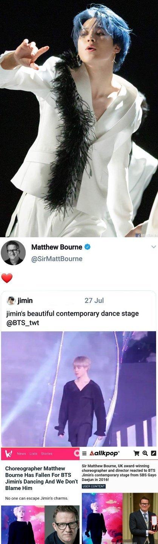 BTS Jimin'in dansı koreograf Matthew Bourne'un ilgisini çekti
