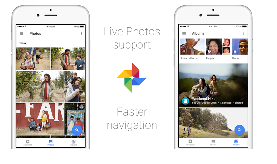 Google Photos supporte aussi Apple Live Photos sur iOS
