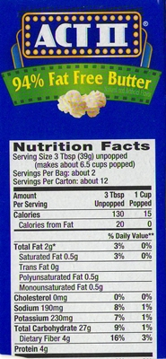 How Many Calories In A Microwave Popcorn Bag Ahoy Comics