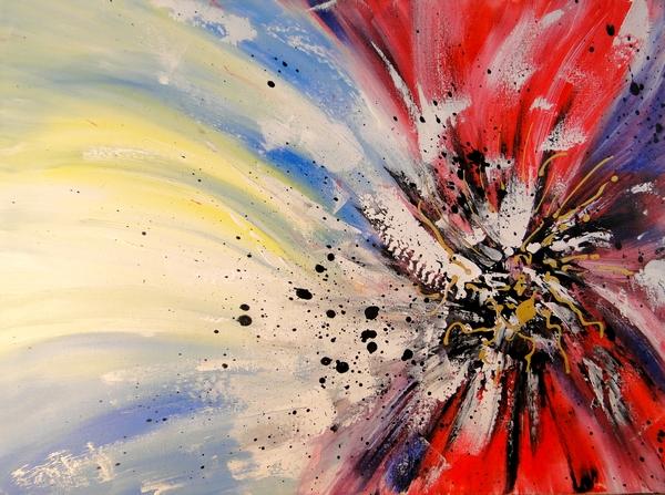 Peinture abstraite contemporaine FLORESSENCE