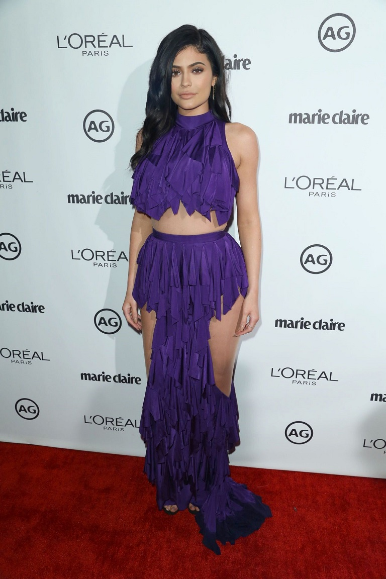 Kylie Jenner bares skin and curves in sultry Balmain dress at the Image Maker Awards