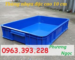 Thùng đặc công nghiệp HS025, sóng nhựa bít cao 10 cm, khay nhựa đặc có nắp Tdhs025.2