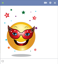 Facebook smiley with mask