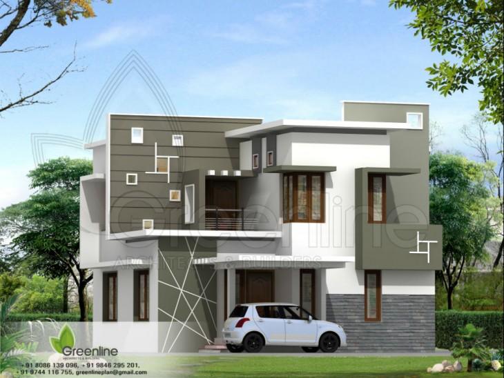1250 Sqft 3 Bhk House Elevation Design Penting Ayo Share