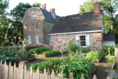 Keith House kitchen garden at Graeme Park