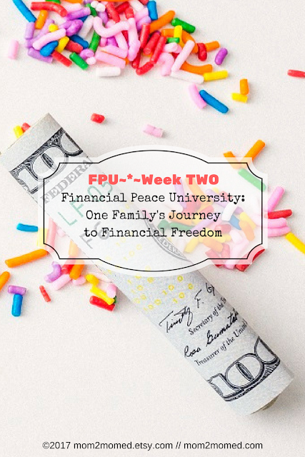 Mom2MomEd Blog: Financial Peace University~*~Week Two in Review