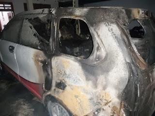 Rumah Relawan BISA di Serang Dua Unit Mobil Dibakar