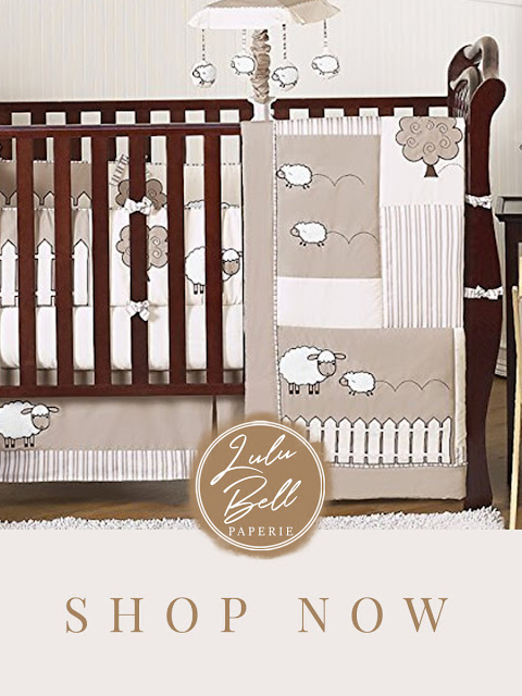 Little Lamb Baby Crib Bedding Nursery Set - Rustic Farmhouse Nursery Decor