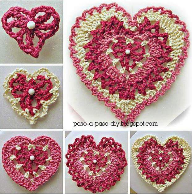 Corazon | Crochet patrones amigurumis, Amigurumis patrones gratis ... | 627x621