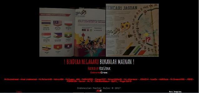 akibat bendera indonesia dicetak terbalik haker indonesia lancar opmaralaysia