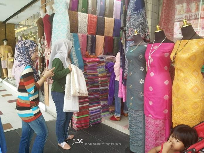 Borong kain pasang Songket Tabur @ Jalan Tar