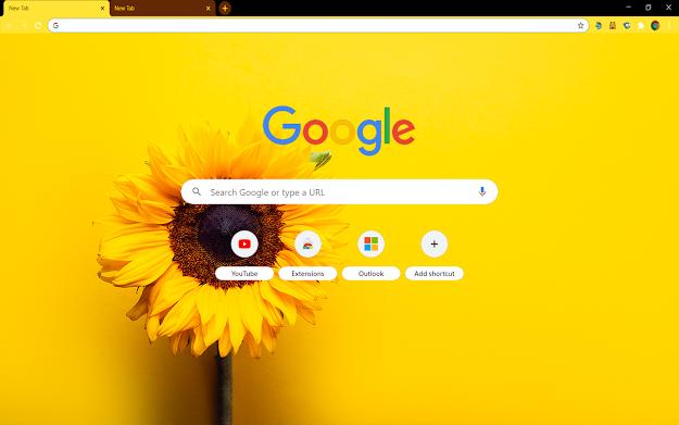 Sunflower Yellow Google Theme