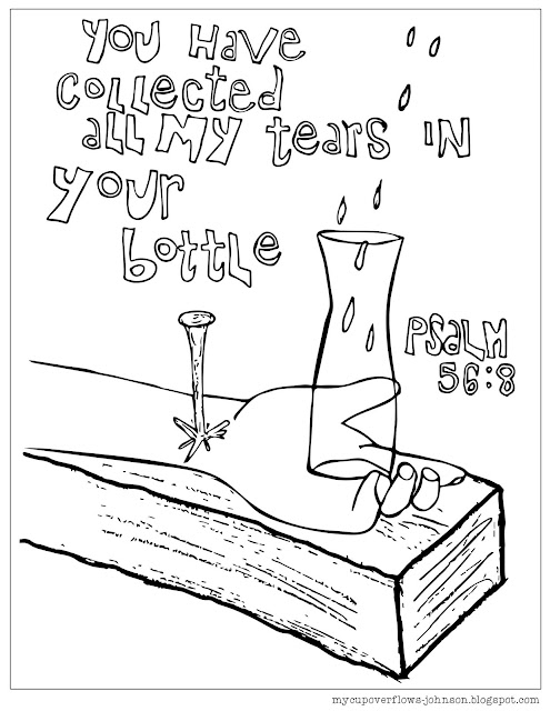 Free coloring page Psalm 56:8