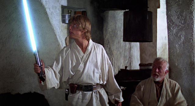 Luke and Obi-Wan in Episode 4.