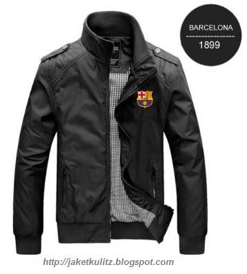 Gambar Jaket Kulit Logo Bola Barcelona