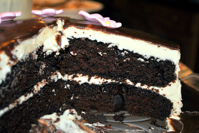 Chocolate Cake With Vanilla Frosting Nevada City