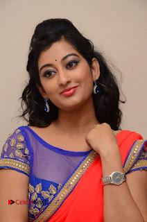Actress Tejaswini Pictures in Saree at Pratikshanam Audio Launch  0053
