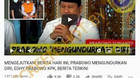 CEK FAKTA: Benarkah Prabowo Subianto Mengundurkan Diri dari Menhan?