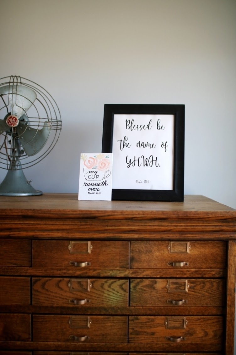 Blessed be the name of YHWH - free Bible verse printable for the Torah observant home | Land of Honey
