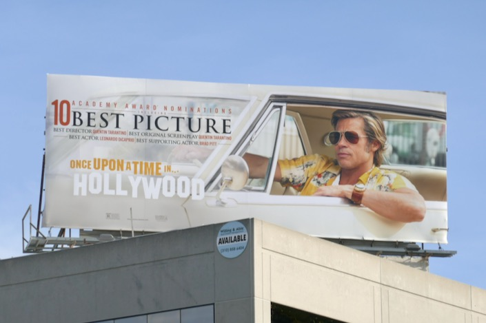 Once Upon Time Hollywood 10 Academy Award billboard