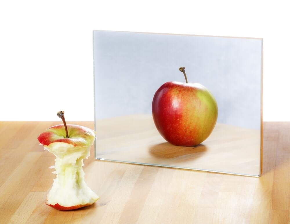 Half Apple Creative Image