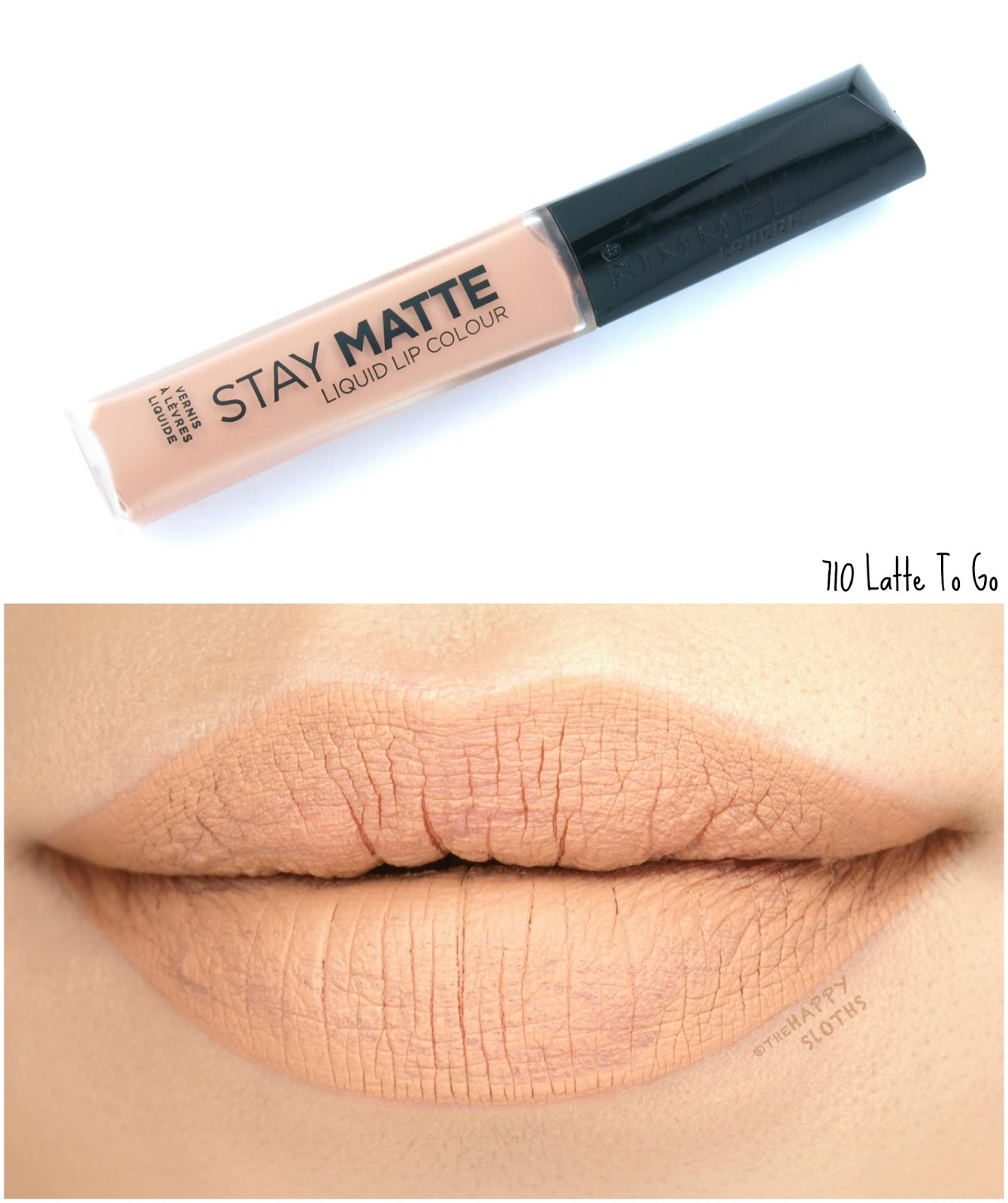 Rimmel London Stay Matte Liquid Lip Colour | 710 Latte To Go: Review and Swatches