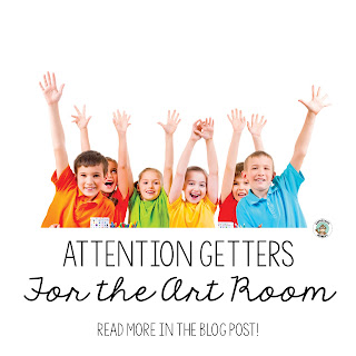 "Art teachers, are you looking for some fun new ""Call & Response"" attention getters in the art room?  I've compiled a list of some of my favorites from here and there."