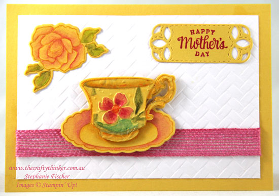 #thecraftythinker #stampinup #cardmaking #mothersdaycard #teatogether , Tea Together, Mothers' Day Card, Stampin' Up Demonstrator, Stephanie Fischer, Sydney NSW
