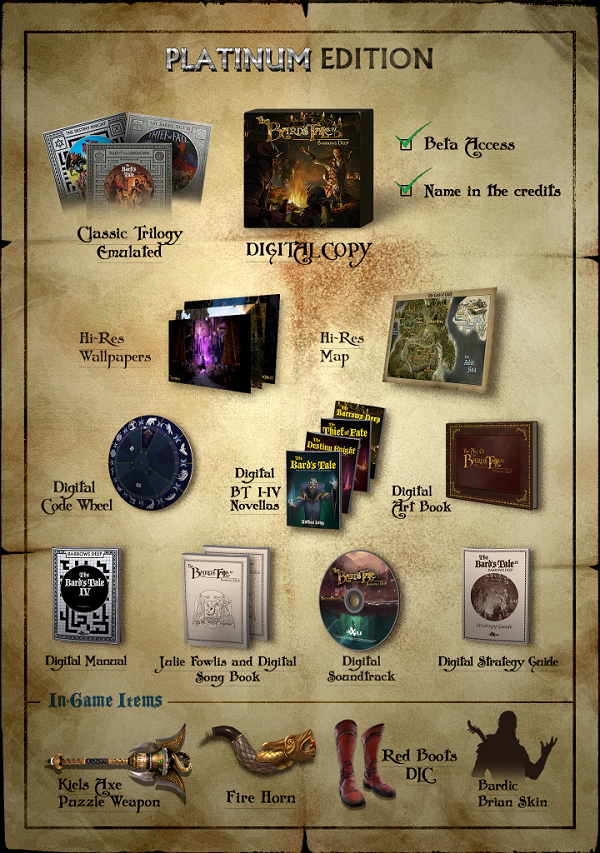 The Bard's Tale IV Platinum Edition