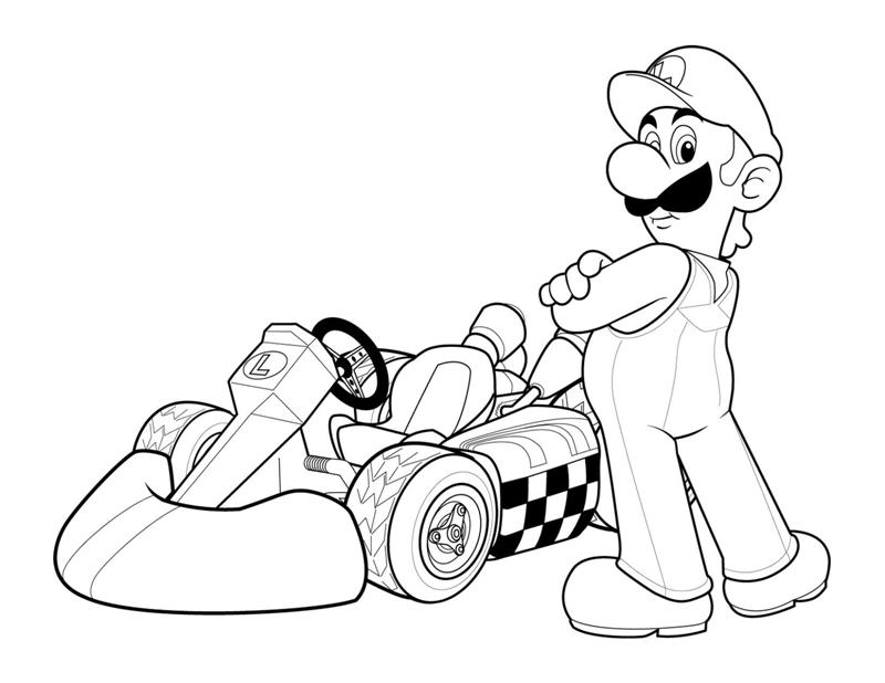 mario brothers coloring pages free - photo#25